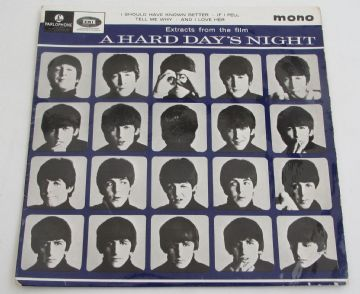 Beatles EXTRACTS FROM A HARD DAYS NIGHT 1964 UK EP 1st Press  EX+ / EX AUDIO